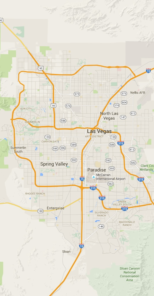 lasvegasmap - Eyeglass Repair and Sunglasses Repair in Las Vegas