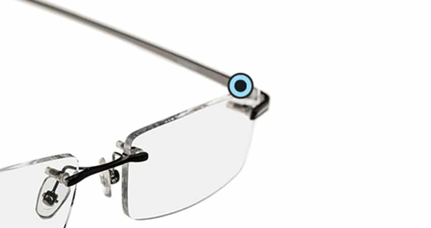 Eyeglass Repair Kit Hinge : Rimless eyeglasses or sunglasses Repair