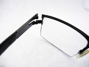 weld before - Laser Eyeglass Repair Provides Superior Results
