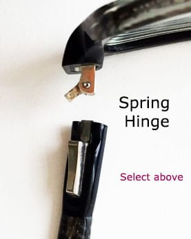 Broken Spring Hinge1 - Repair Silhouette glasses with hinges