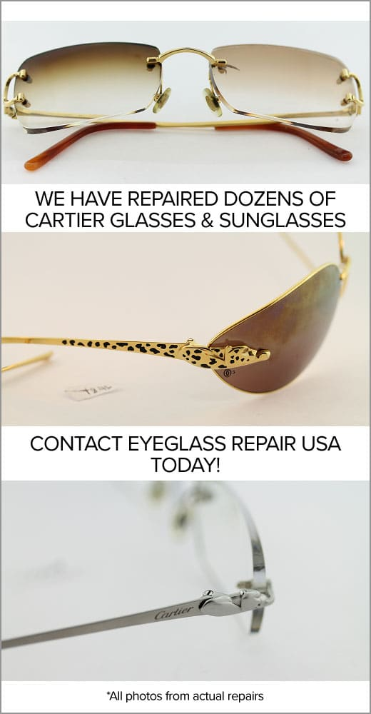Cartier Glasses & Sunglasses Repair Center | Eyeglass Repair USA