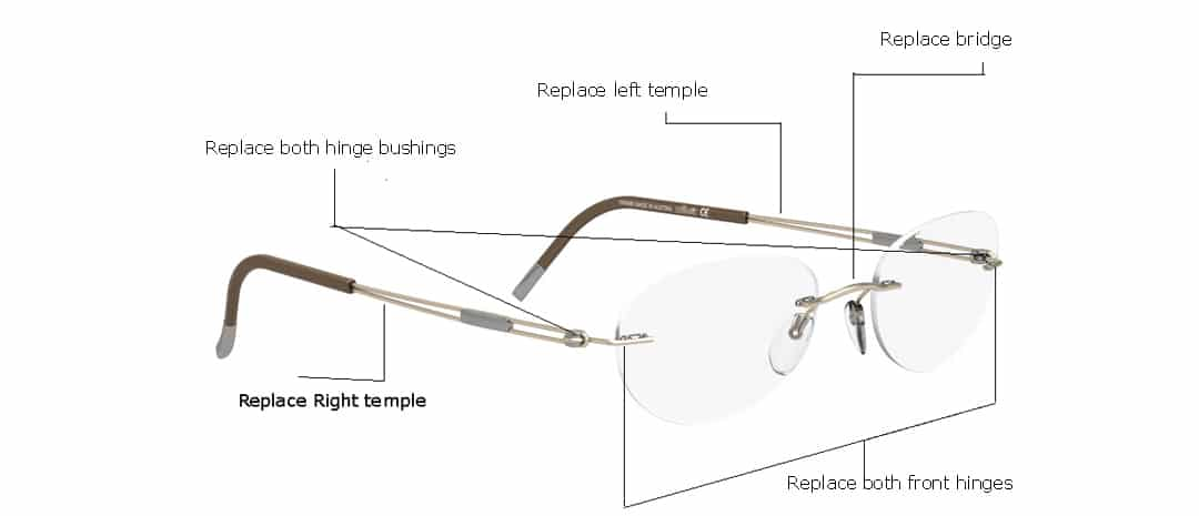 silhouette eyeglasses replacement parts