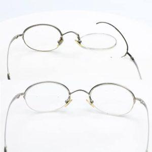Vintage eyeglass lens frame weld - right