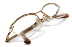 Repair your eyewear today: half-metal frames.